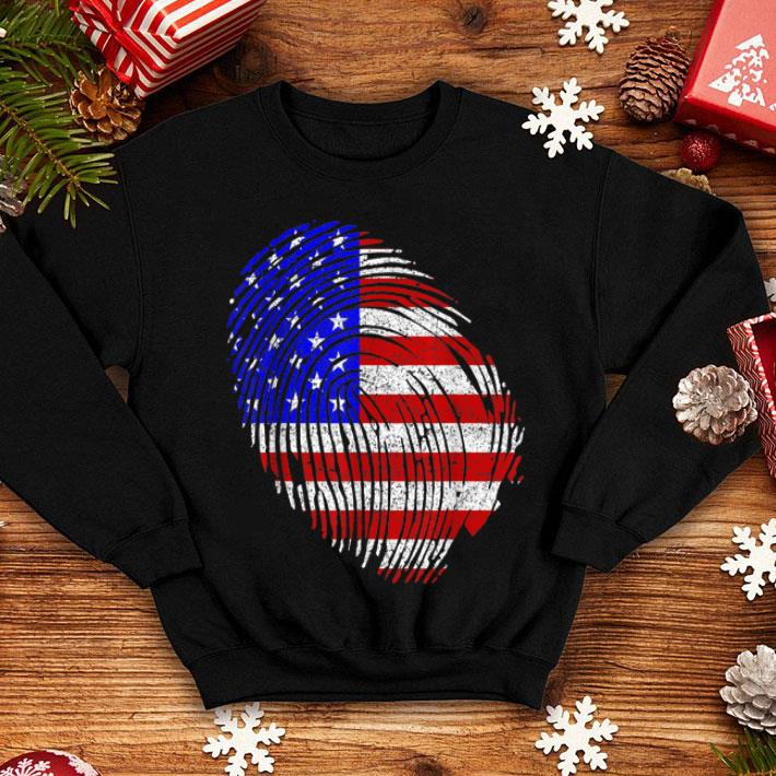 American Flag Fingerprint 4th July Independence Day shirt