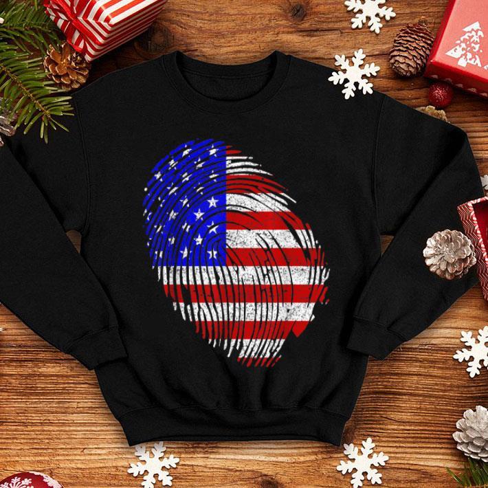 American Flag Fingerprint 4th July Independence Day shirt