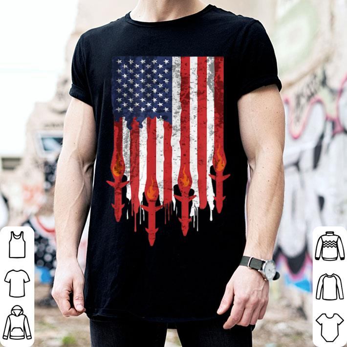 American Flag With Missiles War Military Patriotic shirt