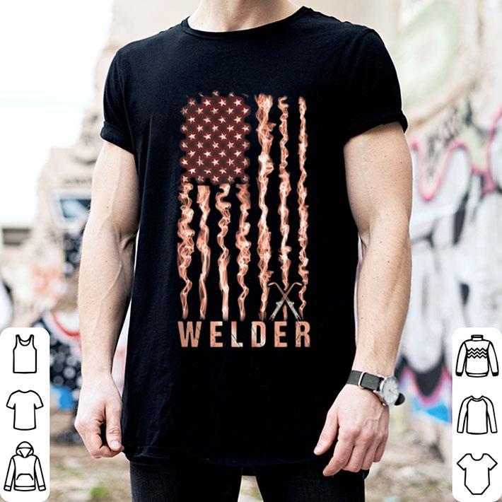American flag Welder shirt