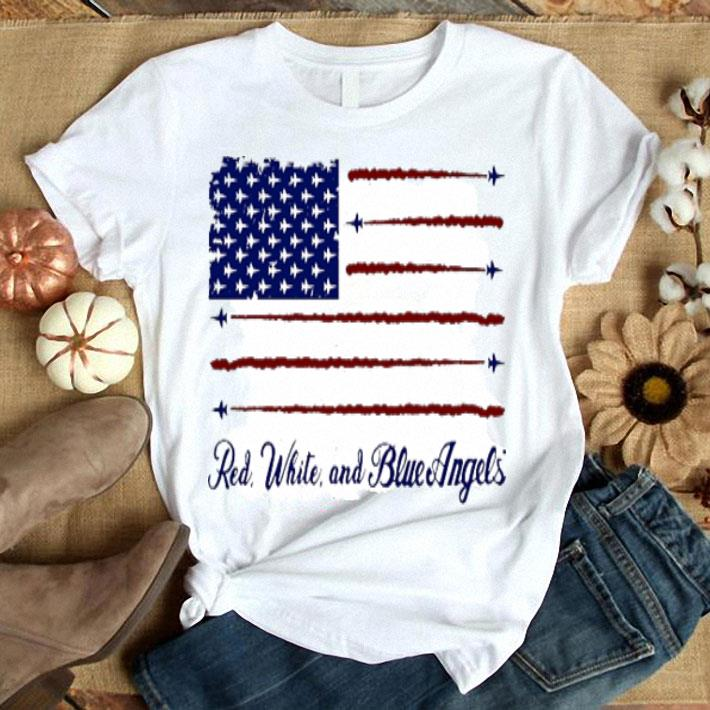 American flag red white and blue angels shirt
