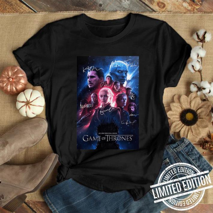 An HBO original series Game Of Thrones signatures shirt