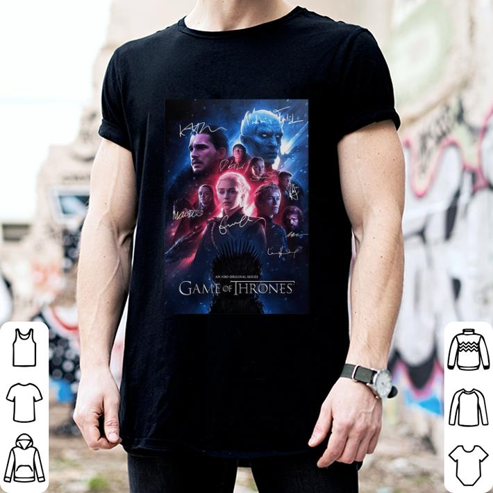 An HBO original series Game Of Thrones signatures shirt 2