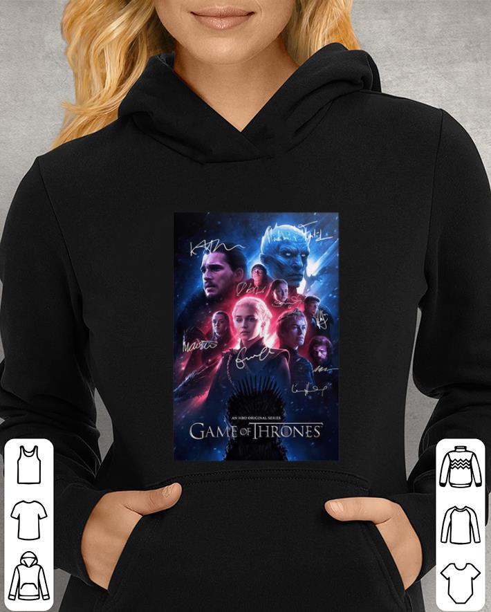 An HBO original series Game Of Thrones signatures shirt 3