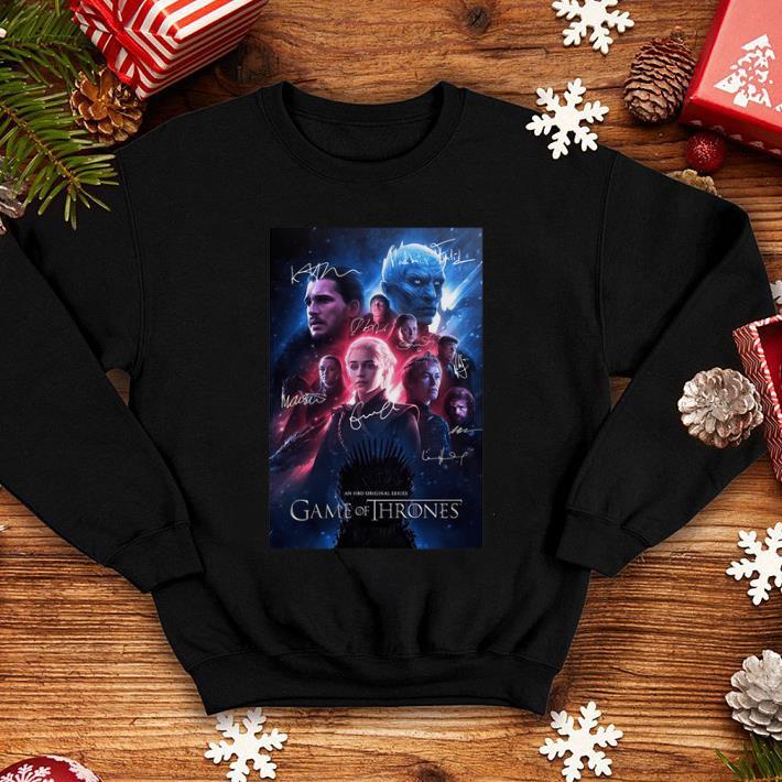 An HBO original series Game Of Thrones signatures shirt