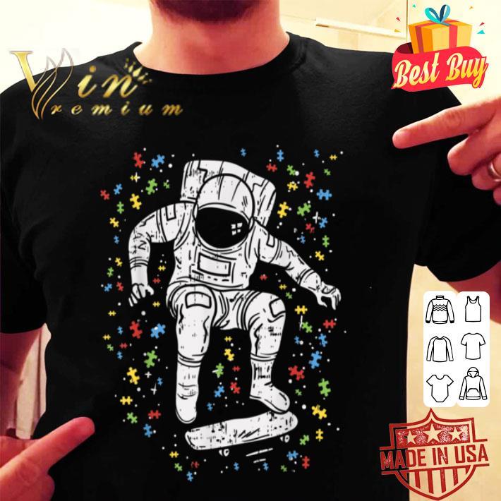 Autism Awareness Astronaut Skateboard Spaceman Skater shirt