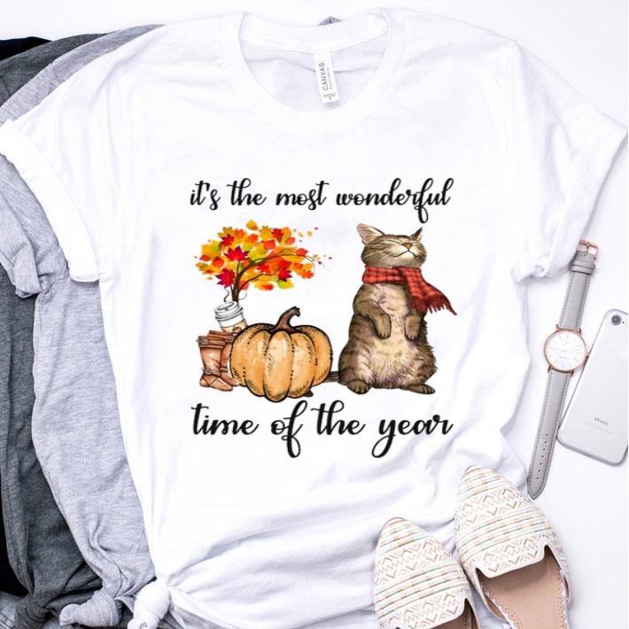 Autumn cats it's the most wonderful time of the year shirt