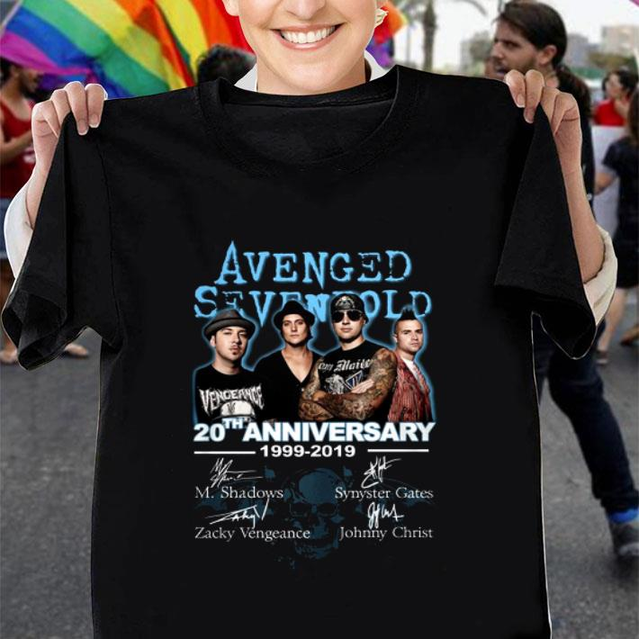 Avenged Sevenfold 20th Anniversary 1999-2019 Signatures shirt