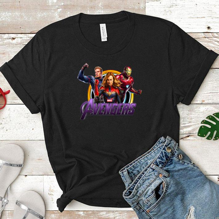 Avenger Endgame Captain Marvel Iron Man and Captain America shirt 1