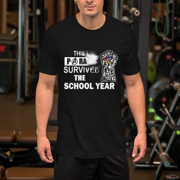 Avengers This Paraprofessional survived the school year shirt
