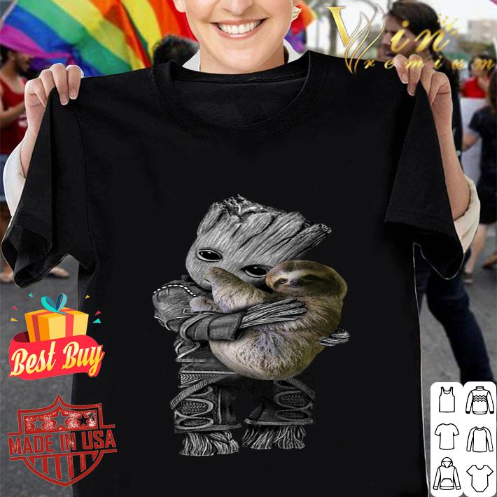 Baby Groot Hug Sloth shirt