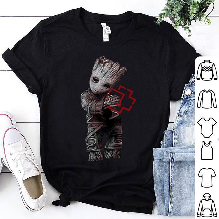 Baby Groot hug Rammstein shirt