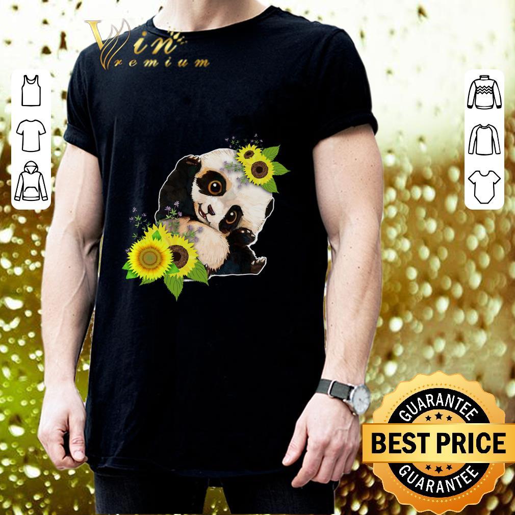 Baby Panda Sunflower shirt 3