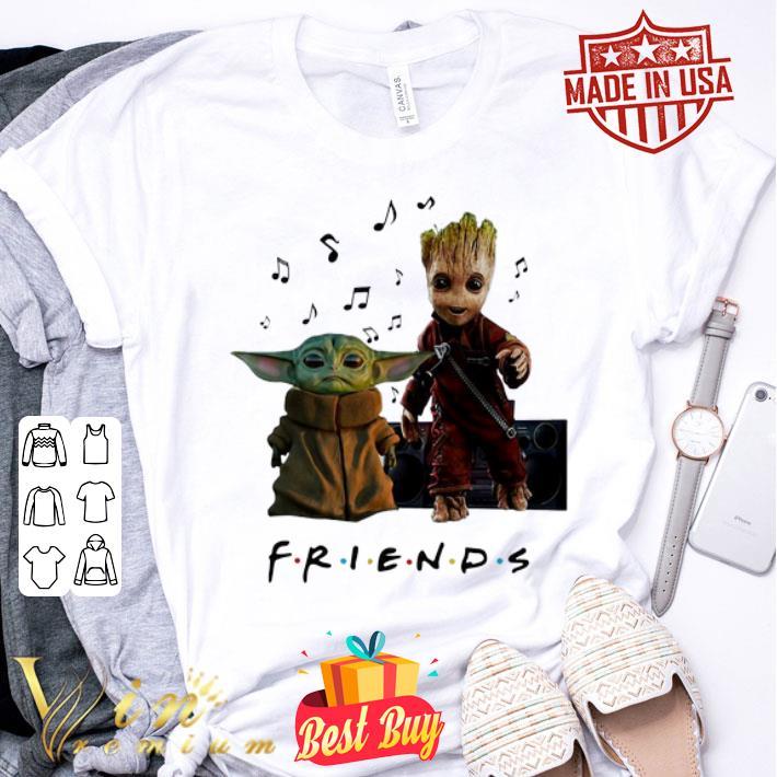 Baby Yoda And Baby Groot Friends Music Note shirt