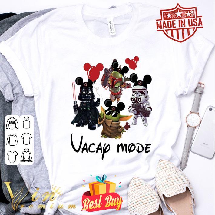Baby Yoda Darth Vader Boba Fett Stormtrooper Vacay Mode shirt