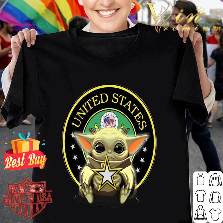 Baby Yoda Hug United States Army logo shirt