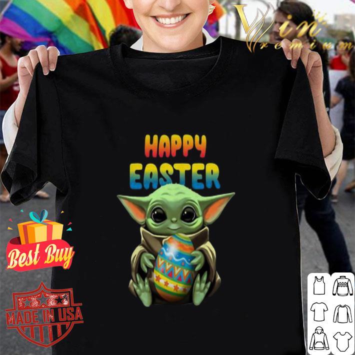 Baby Yoda hug Happy Easter Star Wars shirt