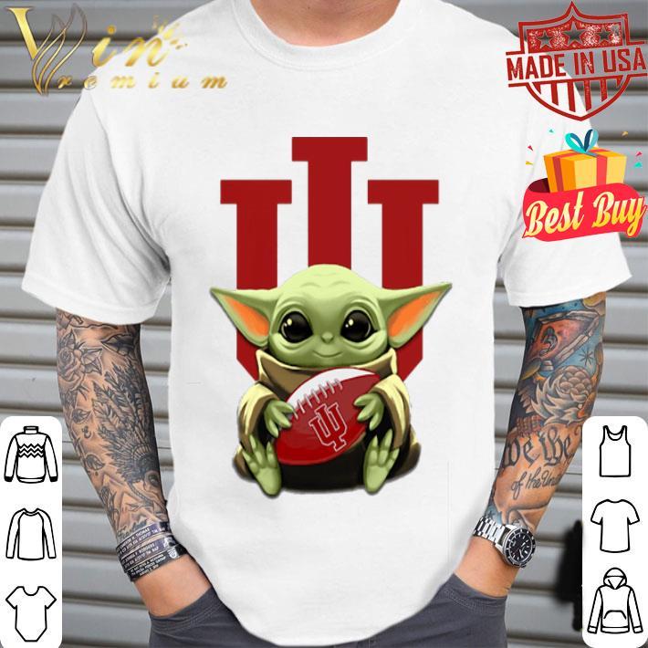 Baby Yoda hug Indiana Hoosiers Star Wars shirt