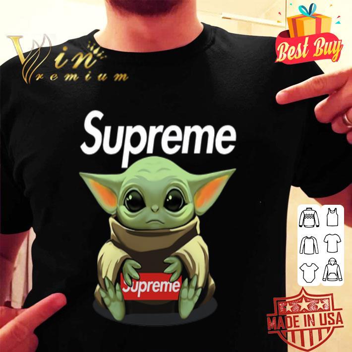 Baby Yoda hug Supreme Star Wars shirt