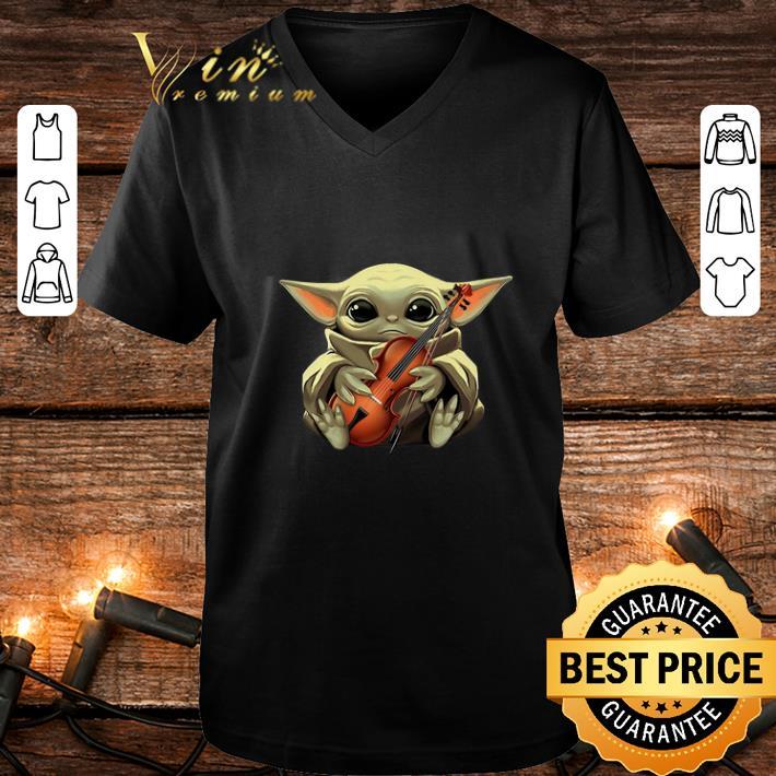 Baby Yoda hug Violin Star Wars shirt