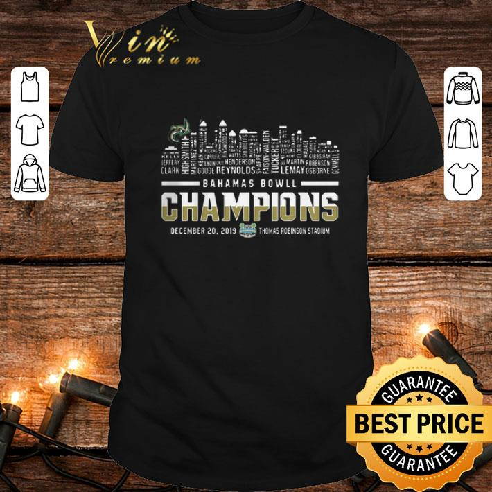 Bahamas Bowl Champions Two Sided Charlotte 49ers Skyline shirt 1