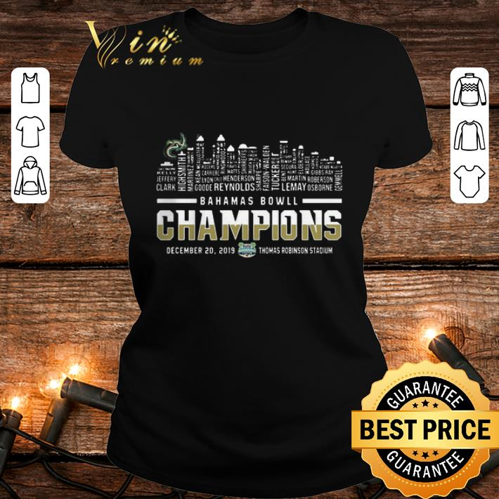 Bahamas Bowl Champions Two Sided Charlotte 49ers Skyline shirt 2