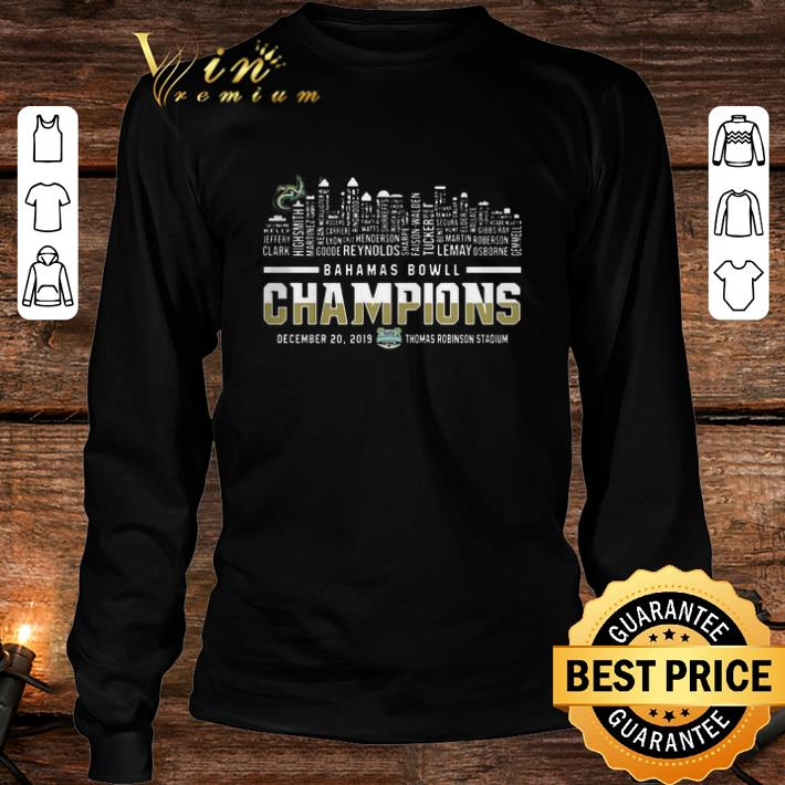Bahamas Bowl Champions Two Sided Charlotte 49ers Skyline shirt 3