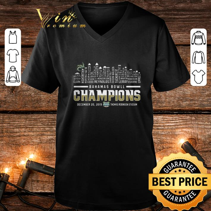 Bahamas Bowl Champions Two Sided Charlotte 49ers Skyline shirt