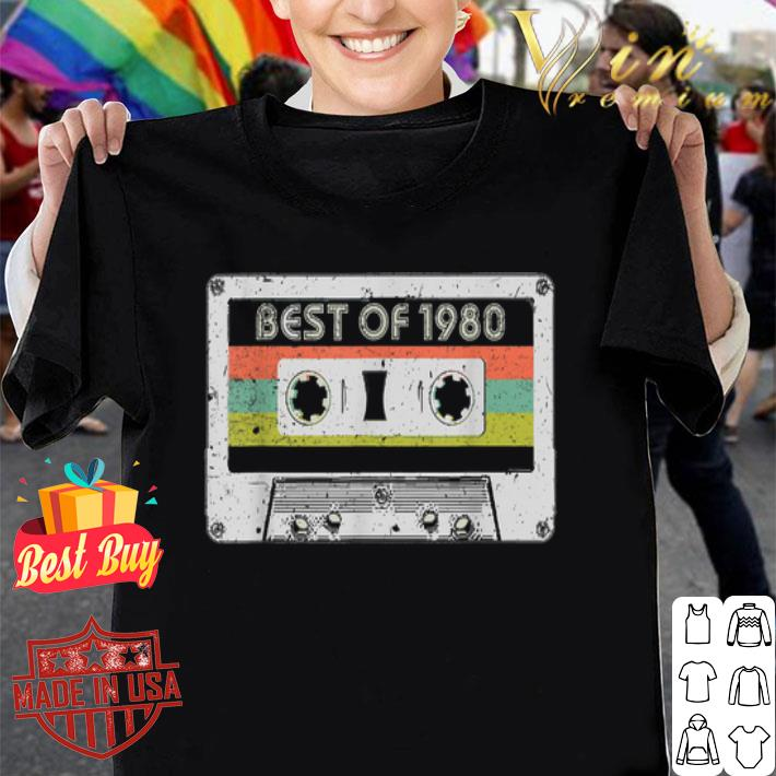 Best Of 1980 40th Birthday Vintage Cassette shirt