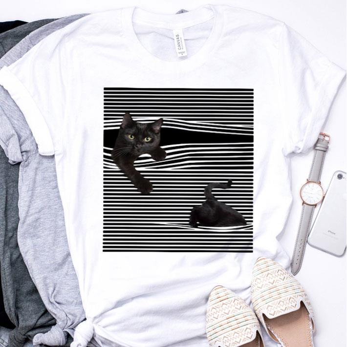 Black Cat under the curtains shirt