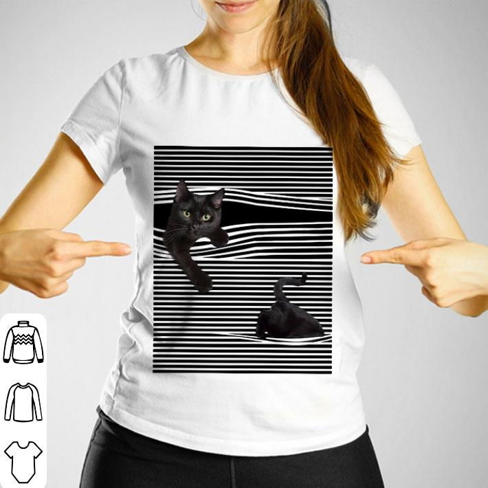 Black Cat under the curtains shirt