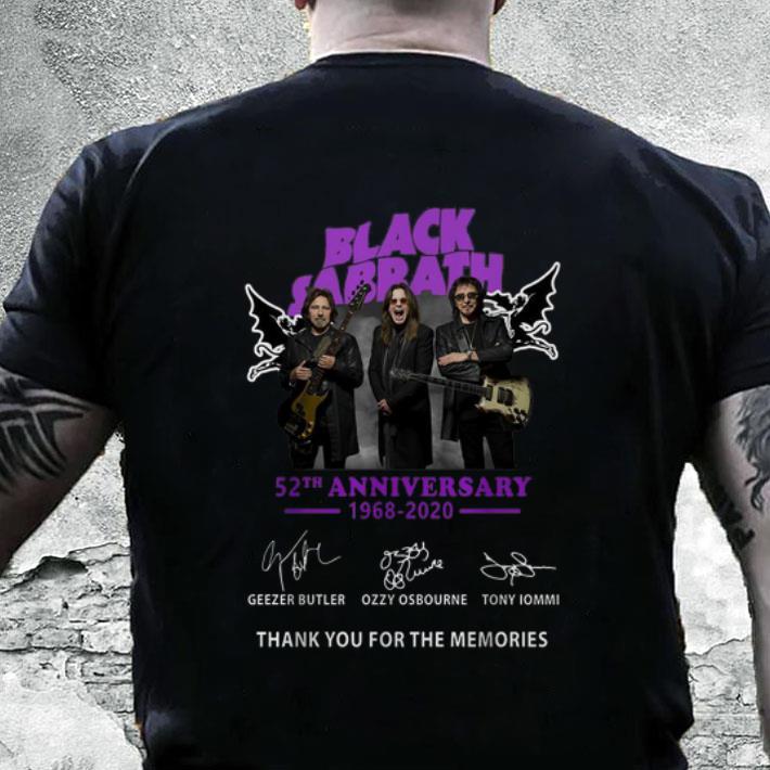 Black Sabbath Christmas Sweater.Black Sabbath 52th Anniversary 1968 2020 Signatures Shirt Hoodie Sweater Longsleeve T Shirt