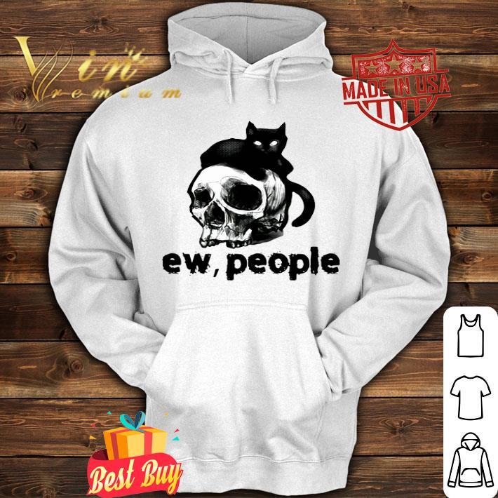 Black cat and Skull ew people shirt