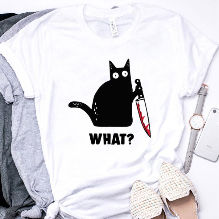 Black cat knife Michael Myers shirt