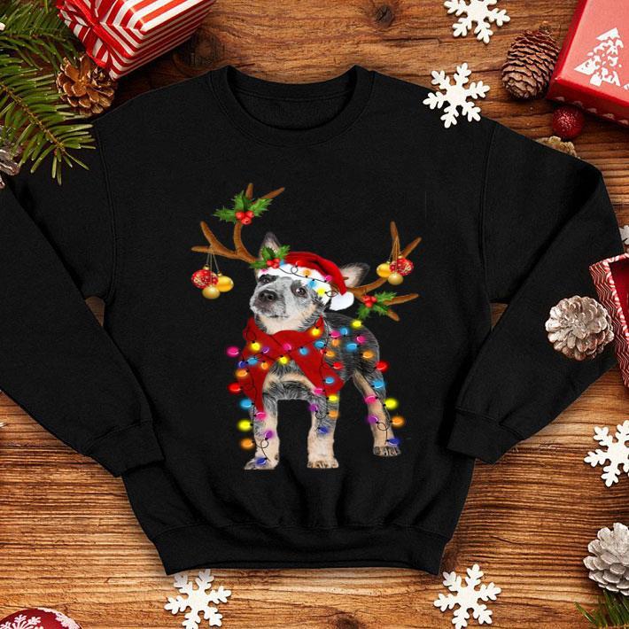 Blue Heeler santa gorgeous reindeer Christmas shirt