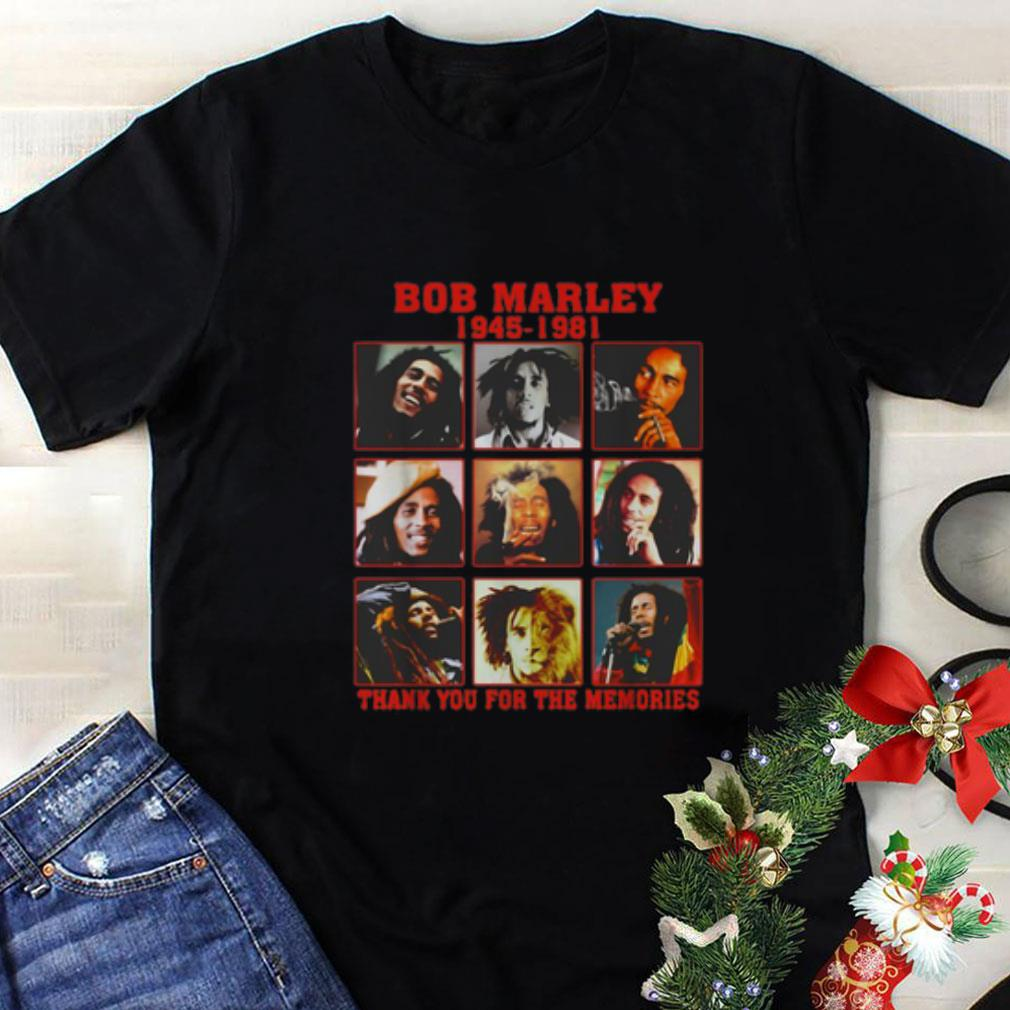 Bob Marley 1945 1981 thank you for the memories shirt 1