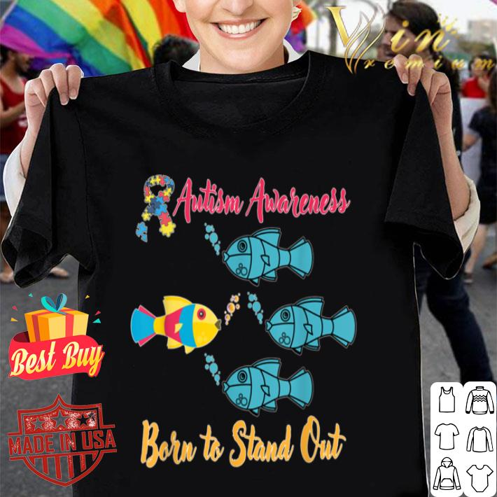 Born To Stand Out Gift Design Jumper Top Autism Awareness Jumper