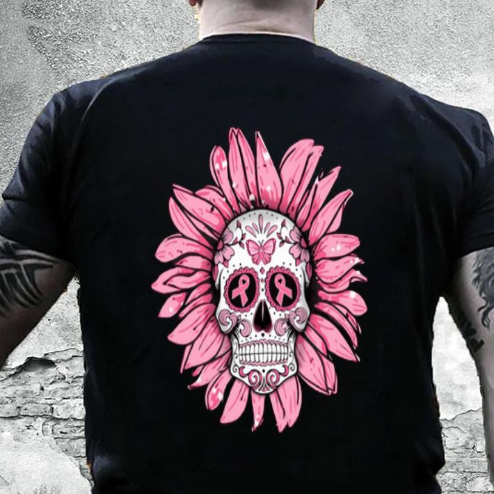 Breast Cancer Awareness Sugar Skull Sunflower shirt