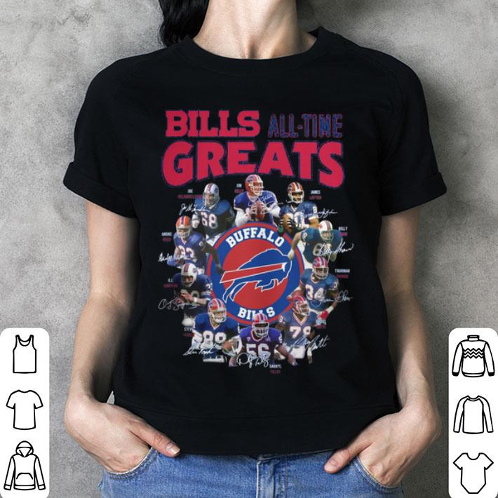 Buffalo Bills all time greats signatures name players shirt