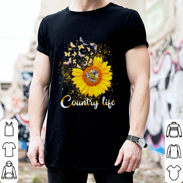 Butterfly Sunflower Country life shirt