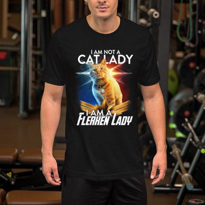 Captain Marvel I am not a cat lady i am a Flerken lady shirt