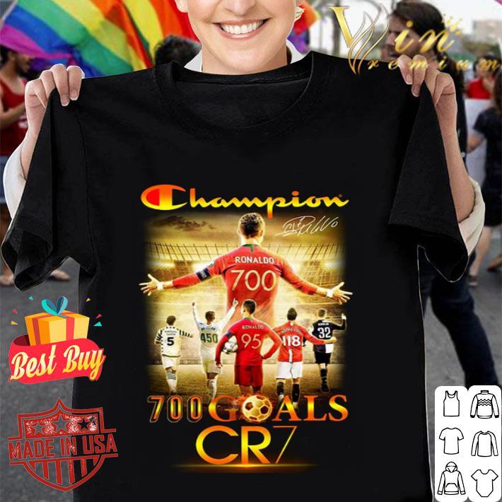 Champion 700 goals CR7 signature shirt