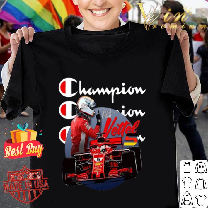 Champion Sebastian Vettel signature shirt
