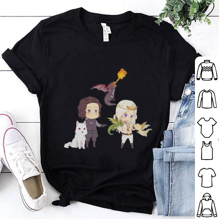 Chibi Daenerys Targaryen and John Snow Game Of Thrones shirt