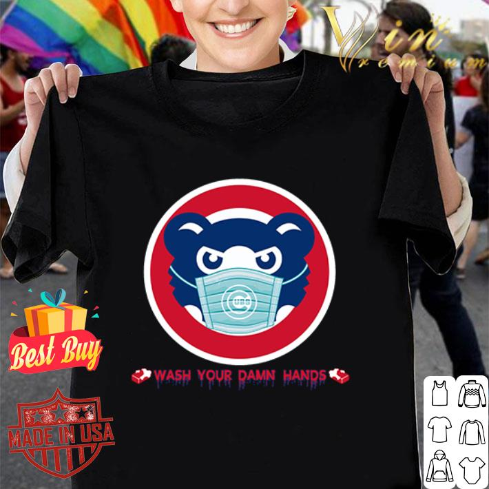 Chicago Cubs masked wash your damn hands Covid-19 shirt