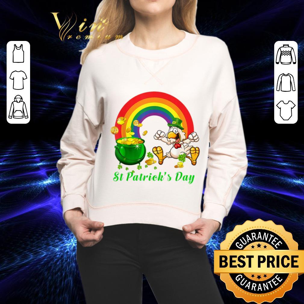 Chicken St. Patrick's Day Rainbow LGBT shirt 2