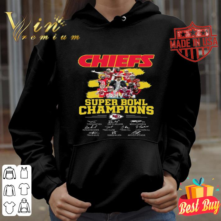 Chiefs Super Bowl Champions signatures shirt