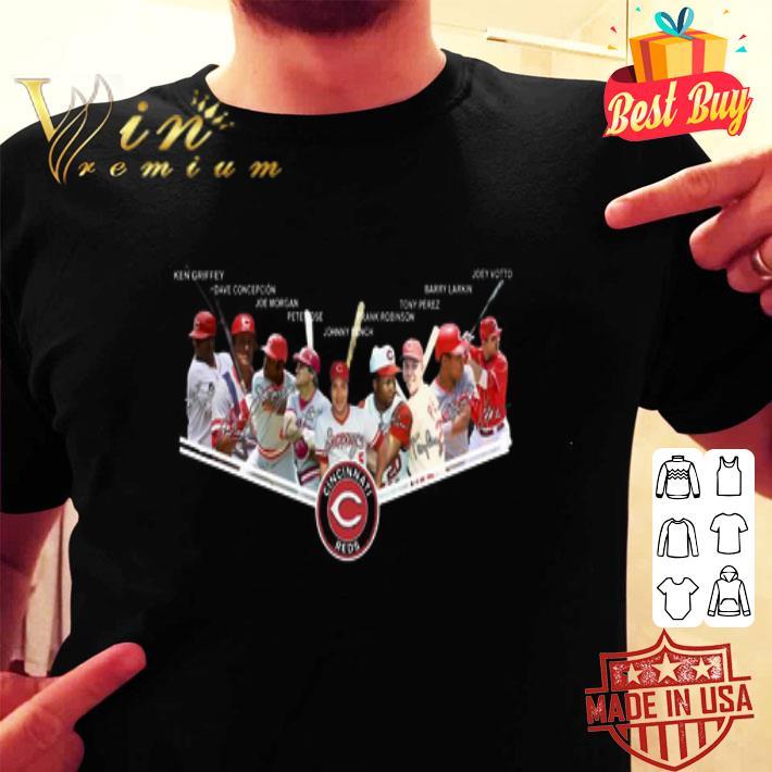 Cincinnati Reds Logo Players Legend Signatures shirt