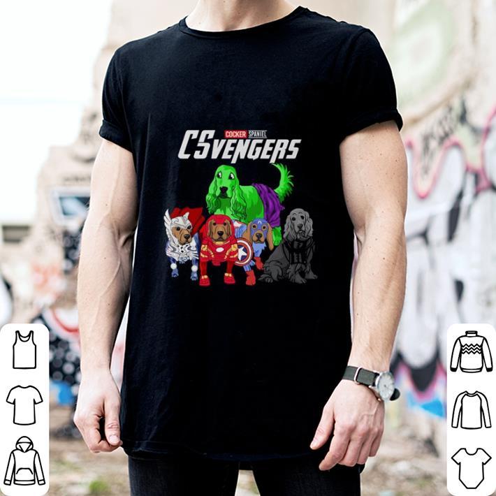 Cocker Spaniel CSvengers Marvel Avengers Endgame shirt