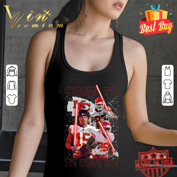 Come To The Kansas City Chiefs Side Star Wars Signatures shirt